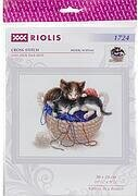 Kittens In A Basket - Cross Stitch Kit