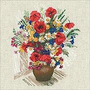 Summer Flowers and Poppies - Cross Stitch Kit