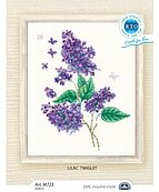 Lilac Twiglet - Cross Stitch Kit