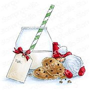 Milk and Cookies Gnome - Christmas Cling Stamp