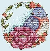 Blue Bird - Cross Stitch Pattern