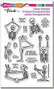Skeleton Yoga Halloween - Perfectly Clear Stamp