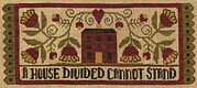 Divided House - Christian Cross Stitch Pattern
