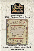 Welcome Spring Bunny - Cross Stitch Pattern