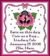 Cute As A Bug (Girl) - Cross Stitch Pattern