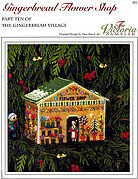 Gingerbread Flower Shop - Cross Stitch Pattern
