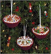 Gingerbread Cupcakes - Cross Stitch Pattern