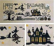 Happy Halloween Night - Cross Stitch Pattern