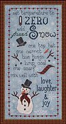 Recipe for a Snowman - Cross Stitch Pattern