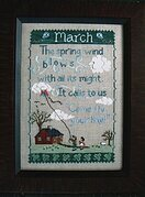 Monthly Sampler Series: March - Cross Stitch Pattern