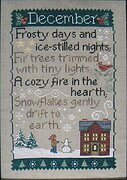 Monthly Sampler Series: December - Cross Stitch Pattern