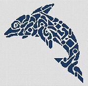 Tribal Dolphin - Cross Stitch Pattern