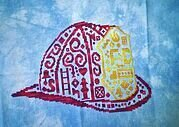 Tribal Fire Helmet  - Cross Stitch Pattern