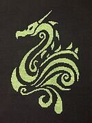 Tribal Dragon 2 - Cross Stitch Pattern