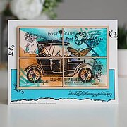 Vintage Car - Clear Singles Stamp