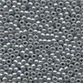 Grey Glass Beads - Size 11/0 (2.5mm)