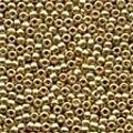 Gold Glass Beads - Size 11/0 (2.5mm)