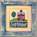 Flip-It Stamp September - Cross Stitch Pattern