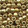 Old Gold Pebble Beads - Size 3/0 (5.5mm)