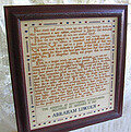272 Words (Gettysburg Address) - Cross Stitch Pattern