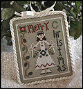 Ornament 7 - Merry Skater - Cross Stitch Pattern