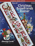 Christmas Snowfriends Banner - Cross Stitch Pattern