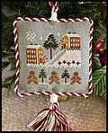 2011 Ornament 4 - Gingerbread Village - Cross Stitch Pattern