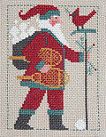 2011 Schooler Santa - Cross Stitch Pattern