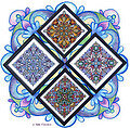 Four Seasonal Mandalas - Cross Stitch Pattern