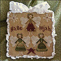2011 Ornament 8 - Hallelujah - Cross Stitch Pattern