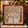 2011 Ornament 10 Snow in Love - Cross Stitch Pattern
