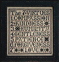 Seven Virtues, The - Cross Stitch Pattern