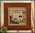Around the World in 80 Days - Cross Stitch Pattern