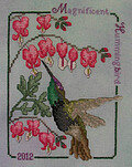 Magnificent Hummingbird 2012  - Cross Stitch Pattern