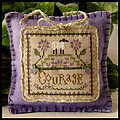 Little Sheep Virtues 4 - Courage - Cross Stitch Pattern