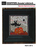 Snapper Hangin With Jack Spooky Series - Cross Stitch Patt