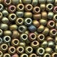 Mayan Gold Glass Pony Beads - Size 6/0 (4mm)