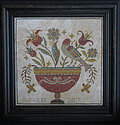 Fraktur Flowers - Cross Stitch Pattern