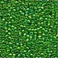 Economy Christmas Green Glass Beads - Size 11/0 (2.5mm)