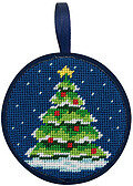 Christmas Tree Christmas Ornament - Needlepoint Kit