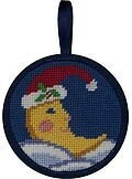 Christmas Moon Christmas Ornament - Needlepoint Kit