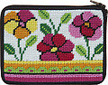 Coin Purse - Pink and Orange Poppies - Needlepoint Kit