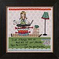 Clutter (Curly Girl Design) - Cross Stitch Kit