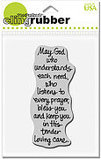 Cling TLC Blessing - Cling Rubber Stamp