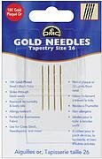 DMC Gold Tapestry Hand Needles - Size 26, 4 per package