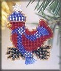 Snowcapped Red Bird 2002 (Beaded Kit)