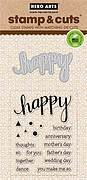 Happy - Clear Stamps With Matching Die