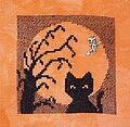 Cat in the Moon (Halloween Silhouette)