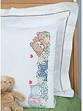 Sleeping Friends Pillowcase - Stamped Cross Stitch Kit