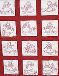 Sunbonnet Girls Nursery Quilt Squares - Embroidery Kit
